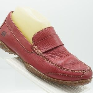 Born Size 7 Red Driving Loafers Shoes For Women